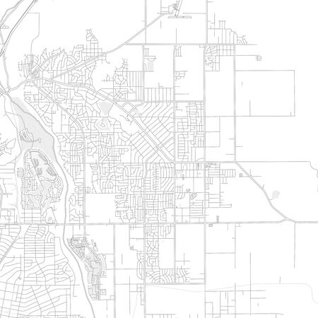 Apple Valley, California, USA, bright outlined vector map with bigger and minor roads and steets created for infographic backgrounds. Illusztráció