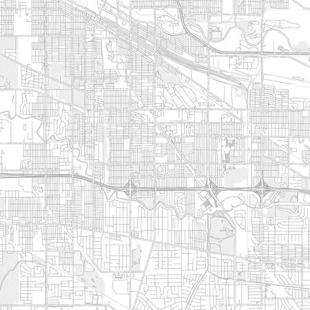 Hammond, Indiana, USA, bright outlined vector map with bigger and minor roads and steets created for infographic backgrounds. Illusztráció