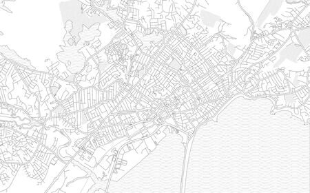 Lynn, Massachusetts, USA, bright outlined vector map with bigger and minor roads and steets created for infographic backgrounds.