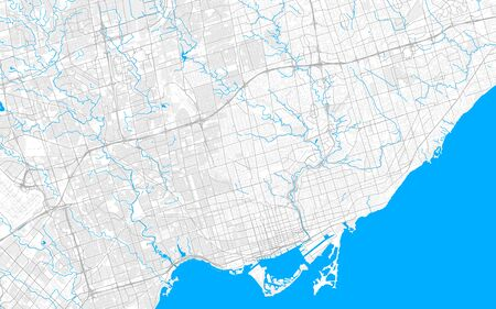 Rich detailed vector area map of Toronto, Ontario, Canada. Map template for home decor.