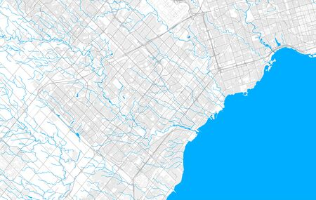 Rich detailed vector area map of Mississauga, Ontario, Canada. Map template for home decor. 向量圖像