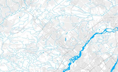 Rich detailed vector area map of Blainville, Quebec, Canada. Map template for home decor. 일러스트