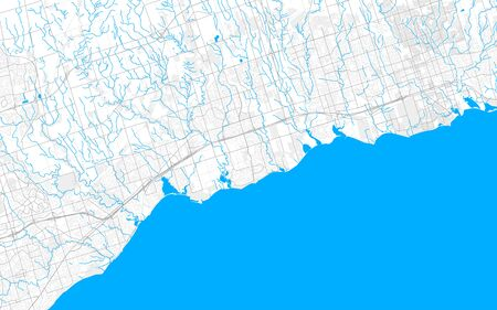 Rich detailed vector area map of Ajax, Ontario, Canada. Map template for home decor.