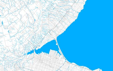 Rich detailed vector area map of Burlington, Ontario, Canada. Map template for home decor.
