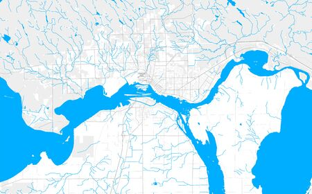 Rich detailed vector area map of Sault Ste. Marie, Ontario, Canada. Map template for home decor. Иллюстрация
