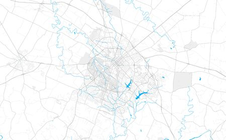 Rich detailed vector area map of Lexington, Kentucky, U.S.A.. Map template for home decor.