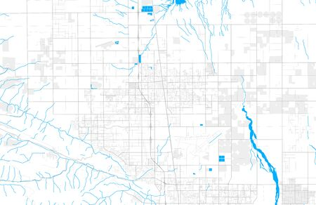 Rich detailed vector area map of Lancaster, California, USA. Map template for home decor.