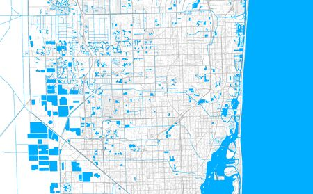 Rich detailed vector area map of Miami Gardens, Florida, USA. Map template for home decor.