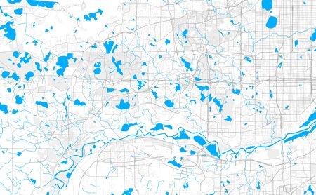 Rich detailed vector area map of Eden Prairie, Minnesota, USA. Map template for home decor. Illustration