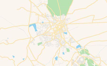 Printable street map of Hubli-Dharwad, State Karnataka, India. Map template for business use.