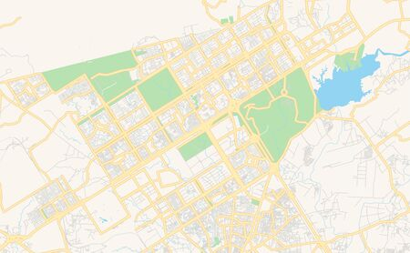 Printable street map of Islamabad, Province  Islamabad, Pakistan. Map template for business use.