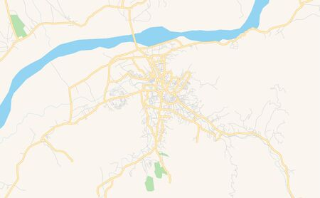 Printable street map of Mingora, Province  Khyber Pakhtunkhwa, Pakistan. Map template for business use.