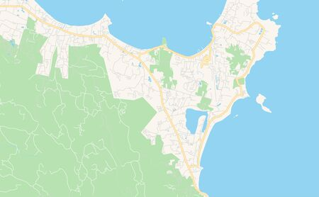 Printable street map of Ko Samui, Province Surat Thani, Thailand. Map template for business use. Illustration
