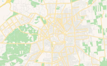 Printable street map of Homs, Syria. Map template for business use.