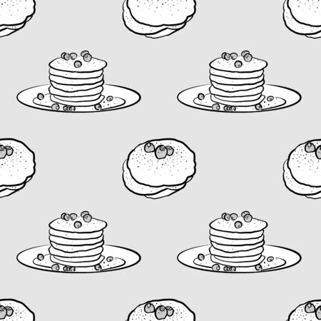 Cholermüs seamless pattern greyscale drawing. Useable for wallpaper or any sized decoration. Handdrawn Vector Illustration