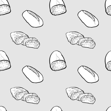 Filone seamless pattern greyscale drawing. Useable for wallpaper or any sized decoration. Handdrawn Vector Illustration