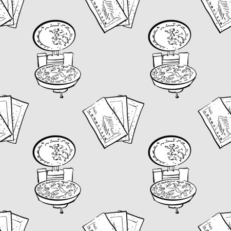 Christmas wafer seamless pattern greyscale drawing. Useable for wallpaper or any sized decoration. Handdrawn Vector Illustration 向量圖像