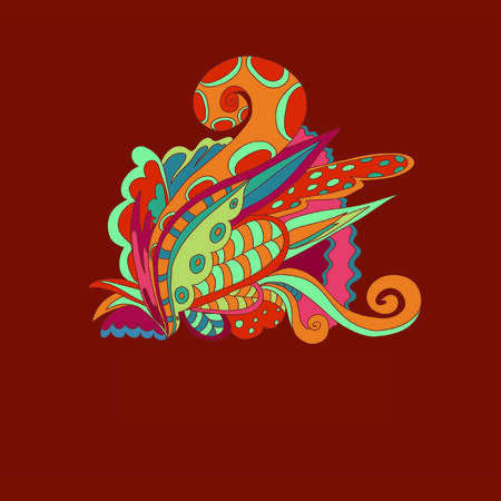 fabulous: multicolored pattern with fabulous elements Illustration