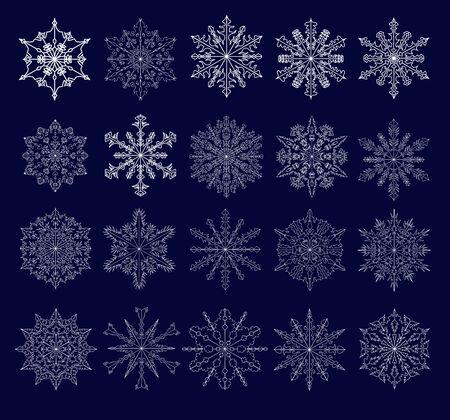 openwork: set of twenty beautiful openwork snowflakes