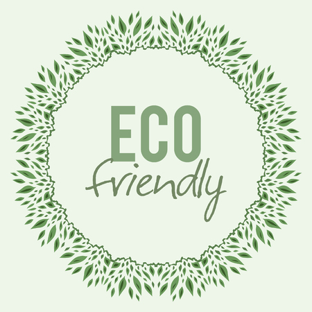 ecological: ornament of leaves with Ecological theme vector