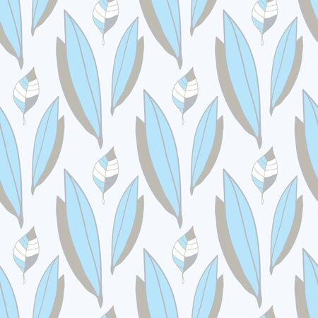 flower abstract: abstract seamless pattern of blue-gray leaves Illustration