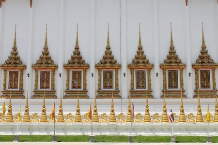 Windows of Temple of Wat Bung Palanchai, Roi-et photo