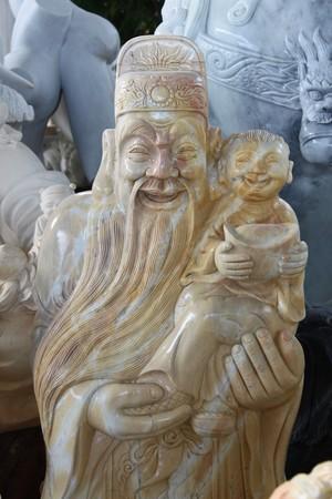 viet nam: stone carving art, Hoi An, Viet Nam