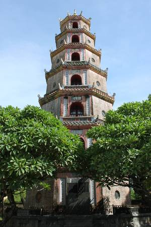 Viet Nam Art and Architecture in Thien Mu Pagoda of Hue City photo