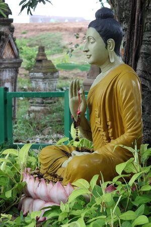 smiling buddha: Buddha Park, Wat Burapaphiram, Roi-et