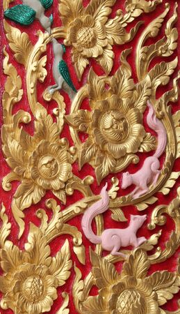 archway: Thai art carving and painting