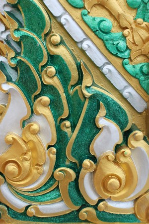 Thai art carving and painting Stock Photo - 7755209
