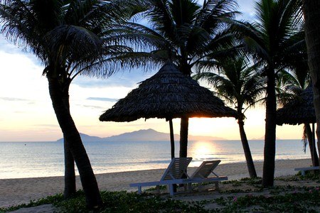 Hoi An Beach, South China Sea, Central Viet Nam Stock Photo