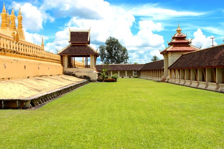 Lawn in Phra Tat Luang, Lao P.D.R. photo