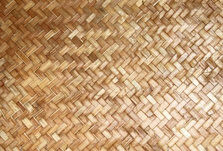 weaving pieces of bamboo house wall background and texture Stock Photo - 7942485