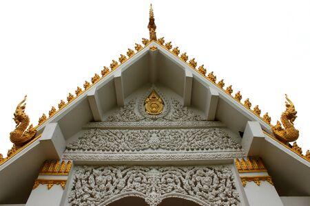 gable: Thai art on gable Stock Photo