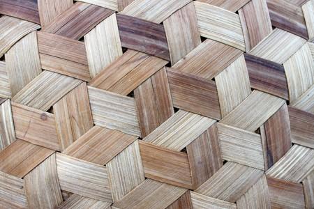 Weaved Bamboo Background Stock Photo