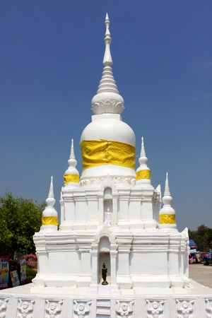 Worship, Miniature of Nadun pagoda, Mahasarakam. photo