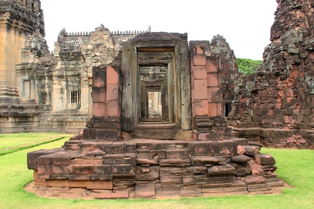 Ancient architecture at Prasat Phimai stone sanctuary, Korat  photo