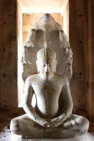 Buddha image at at Prasat Phimai stone sanctuary, Korat Stock Photo - 9273527