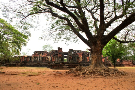 Ancient architecture at Prasat Phimai stone sanctuary, Korat  photo