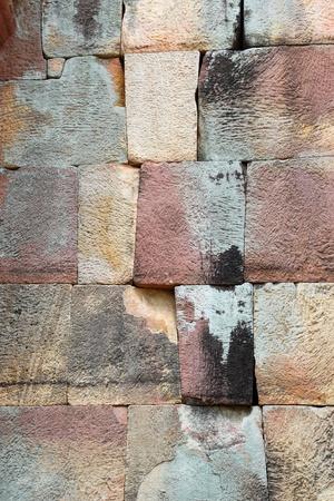 Bricks wall of Prasat Muang Tam Stone Sanctuary, Buriram, Thailand Stock Photo - 9270178