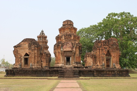 Prasat Sikhoraphum Brick and sandstone Sanctuary, Surin, Thailand photo