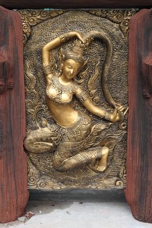 madre tierra: Textura y fondo de estuco de arte de estilo tailand�s  Foto de archivo