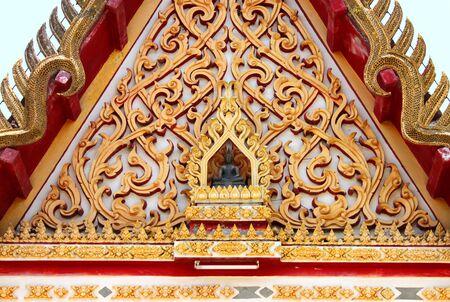 gable: Gable of temple Stock Photo