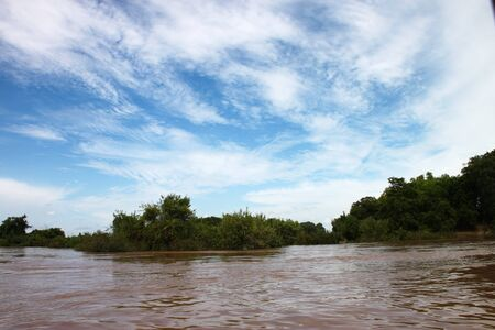 Beautiful sky on Mae Khong river in Lao PDR. photo