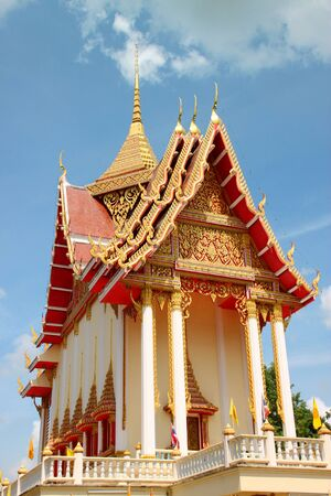 Buddhist sanctuary in North-East of Thailand temple photo