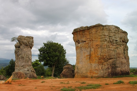 The Stonehenge of Thailand, Chaiyaphum, aged 175 million years photo