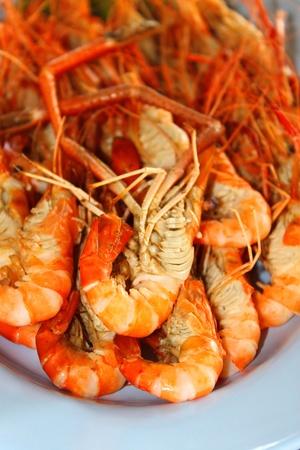 sea food: Grilled shrimps as a famous Thai sea food