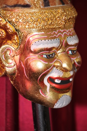 A statue of teacher head for Thai ritual of disciples to pay respect of their teachers before doing something in occupation especially in artists career
