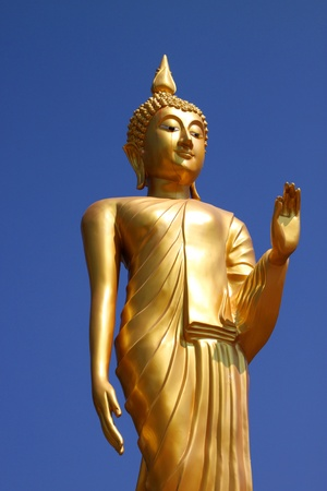 Buddha statue in Blessing Posture style (Pang Prathanporn) photo